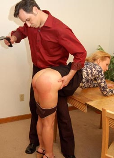Strapping and paddling for a sassy girl spanking 10