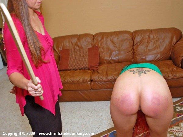 Spank her firmly
