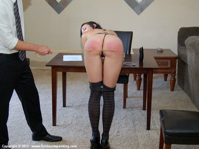 Tights pantyhose spanked the woman
