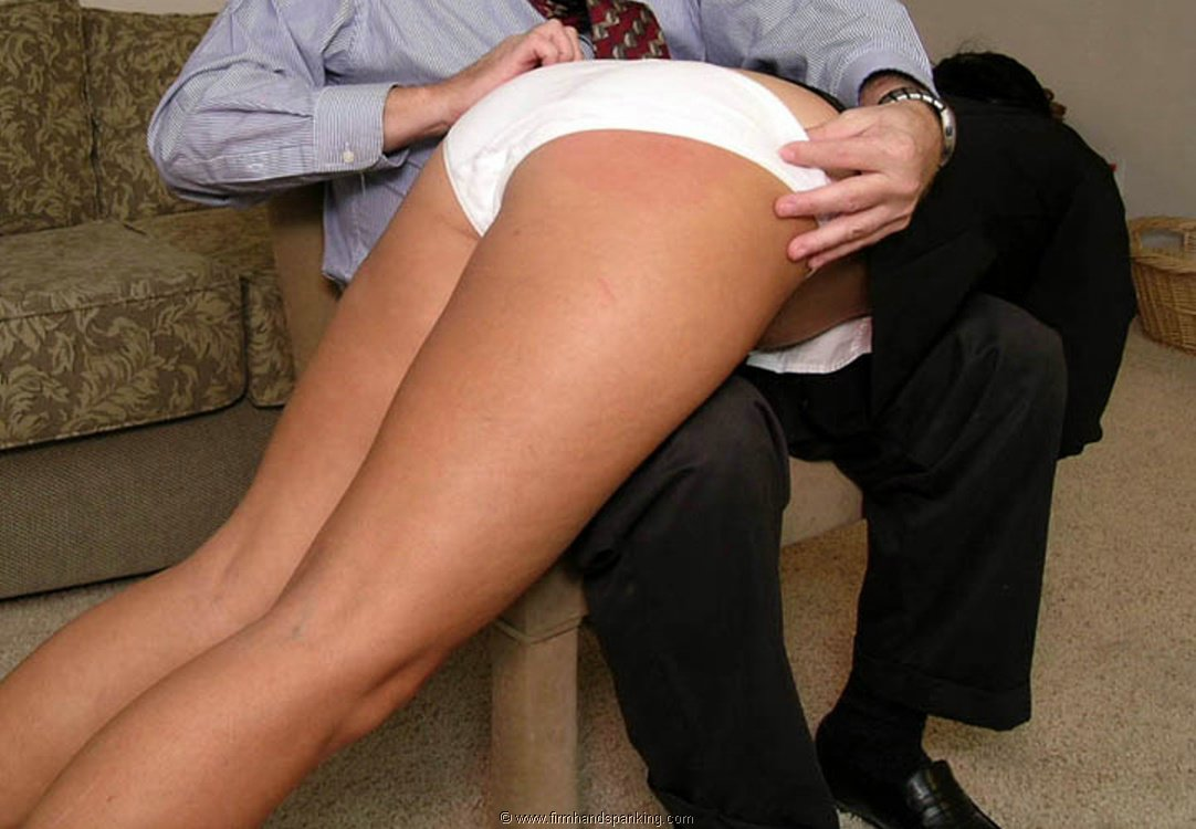 Bare bottom otk spanking