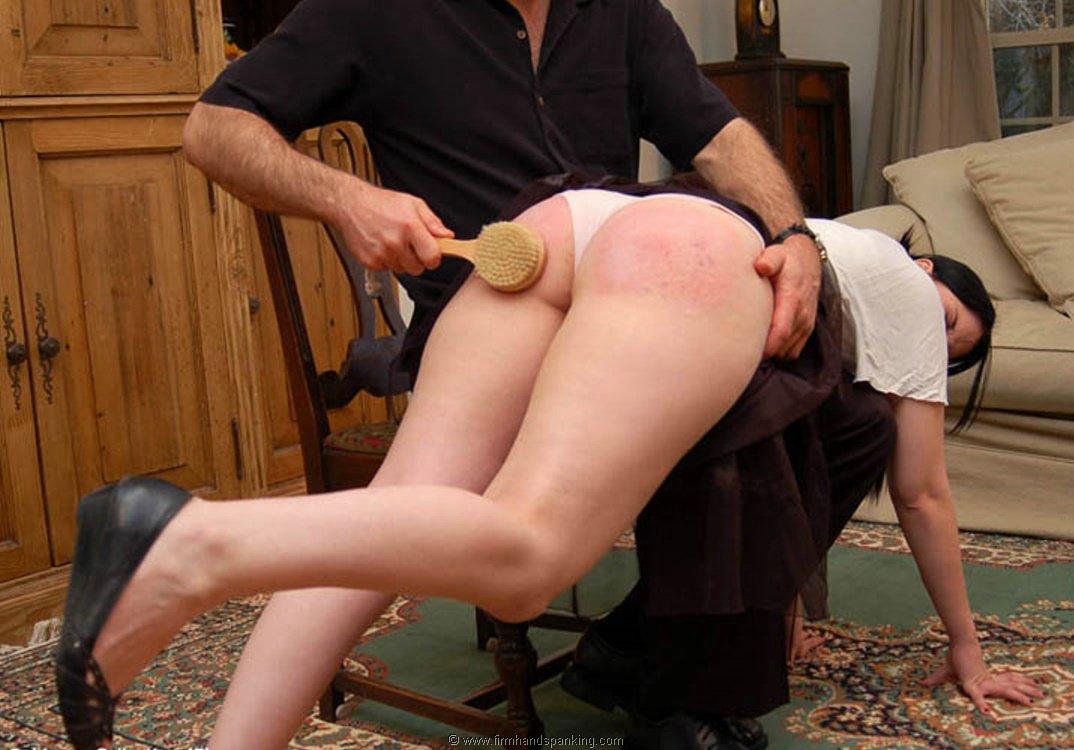 Hairbrush spanking tgp